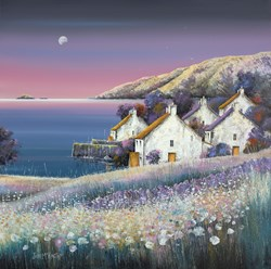 Harbour Dawn by John Mckinstry - Original Painting on Stretched Canvas sized 30x30 inches. Available from Whitewall Galleries